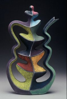 colorful funky teapot by Michael Sherrill