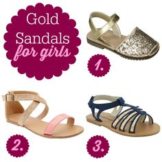 Gold Sandals for Girls