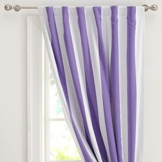 Cottage Stripe Drape With Blackout Lining | PBteen