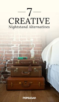 Stack suitcases for a diy nightstand