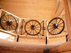 ENTRY Stairs -banister railing using a Nautical Ships Wheel !