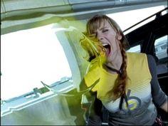 Emma Lahana as Kira Ford, yellow ranger - Power Rangers Dino Thunder - Kira using her Ptera Scream.