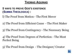 thomas aquinas five ways of proving gods existence