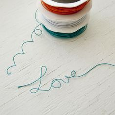 Colored wire thread from @primamarketing is flexible, fun, and easy to use. Make packaging more creative by spelling out a name instead of writing it in a card, or add flair to a scrapbook page by putting the date and location in wire thread!