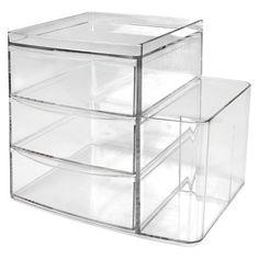 Plastic Storage Drawers Target sterilite® 3-drawer small organizer - white | drawers, dorm and