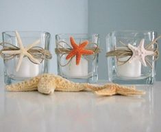 How To Decorate With Sea Stars: 34 Examples | DigsDigs #howtodecorateweddingcandles
