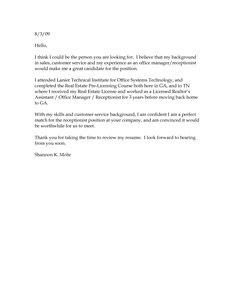 Covering Letter Example Standard Cover Letter With ...