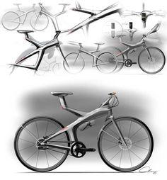 Sheng-Chieh Chang's urban electric bike sketches