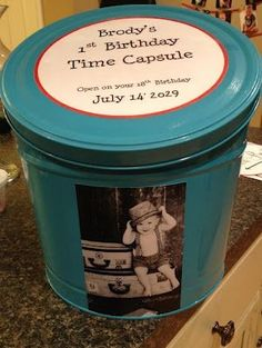 Time Capsule 1st Boy Birthday Parties Message 1year Old
