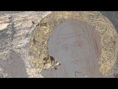 Patrizia Grimaldi shared a video Byzantine Icons, Gold Gilding, Painting Videos, Illuminated Manuscript, Gold Leaf, Central Europe, Techno, Youtube, Byzantine Art