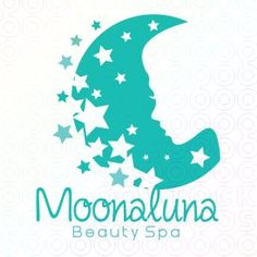 Love the use of negative space. Moonaluna | #Moon #Girl #logo