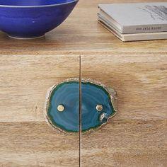 Agate Cabinet Handle Set - Green #westelm for the powder vanity