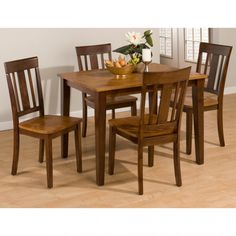 Kura Solid Wood Dining Table  Chairs by Jofran 875-40