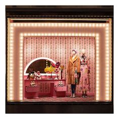 WEBSTA @ gucci - Resembling a dressing room, complete with a candy-pink table with a lightbulb edged mirror, the new window design at the Gucci Montenapoleone flagship store for #GucciPreFall17 by #AlessandroMichele.