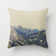 Mountain Flowers Throw Pillow