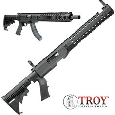 Ruger 10/22 22LR with Troy T22 TRX Tactical Chassis Kit. Yes!!! Want this !!