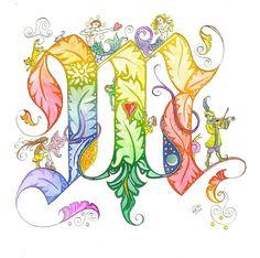 Creative Spotlight: Jane Sullivan — Embody Your Muse Hand Lettering Alphabet, Alphabet Art, Calligraphy Letters, Letter Art, Fancy Letters, Monogram Letters, Creative Lettering, Lettering Design, Illuminated Letters
