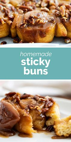 Sticky, sweet and soft, these Sticky Buns are filled with cinnamon and brown sugar flavor. And the sticky caramel makes these finger licking good! #recipe #breakfast #brunch #stickybuns #baking Brunch Recipes, Breakfast Recipes, Dessert Recipes, Bread Recipes, Yummy Recipes, Healthy Recipes, Sticky Rolls, Sticky Buns, Savory Breakfast