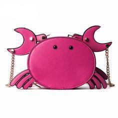 Kawaii Clingy Crab Shoulder Bag