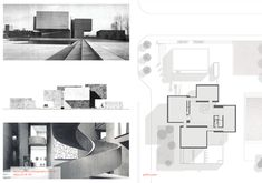 Case Study Drawings: Everson Museum of Art on Behance Museum Plan, Art Museum, Cheap Furniture, Online Furniture, Furniture Design, Everson Museum, Stair Plan, Rustic Stairs, Arquitetura