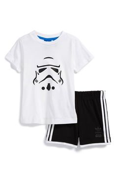 adidas 'Star Wars - Stormtrooper' T-Shirt & Shorts (Baby Boys) available at #Nordstrom