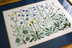 Danish Cross Stitch.  We still have several of these kits at the shop. I love the wildflower designs.