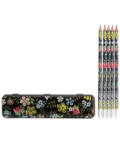 Black Liberty Edenham Print Pencil Tin and Pencils, Liberty London. Shop more stationery from the latest Liberty London collection online at Liberty.co.uk