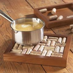 wine cork trivet craft ... Wine Cork Tray