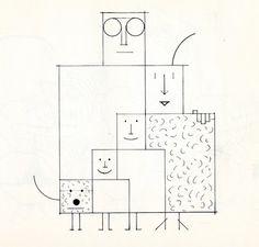 Saul Steinberg, via stopping off place.  simple square family.