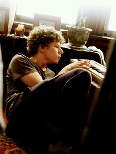 Jesse Eisenberg. Had to read about him, after loving his performances. Intriguing guy!