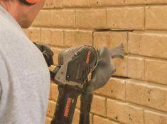 Arbortech Brick and Mortar Saw Saws Through Brick Like Butter - Arbortech brick saw AS170 Brick Saw, Like Butter, Brick And Mortar, Cool Tools, The Incredibles, Concrete Patios, Tools