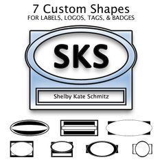 7 Label Shapes for Badges, Tags, and Signs