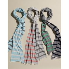 LABEL+thread Striped Tube Scarf ($45) found on Polyvore