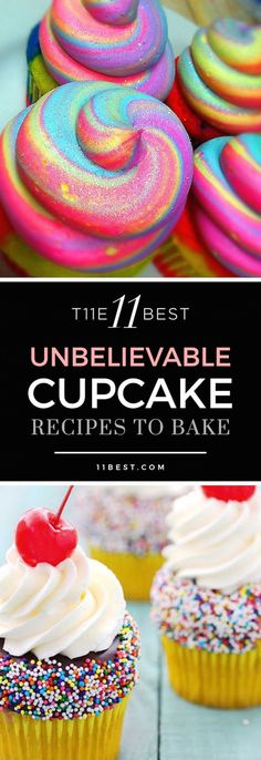 11 Best Cupcake Recipes The 11 best cupcake recipes! Please also visit for colorful, inspirational art and stories.The 11 best cupcake recipes! Please also visit for colorful, inspirational art and stories. Just Desserts, Delicious Desserts, Dessert Recipes, Yummy Food, Jello Recipes, Kid Recipes, Whole30 Recipes, Vegetarian Recipes, Healthy Recipes