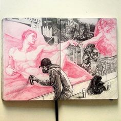 Artist research - A Level Art Sketchbook - Arte Sketchbook, Sketchbook Pages, Moleskine, A Level Art, Sketchbook Inspiration, Doodle Drawings, Art Sketches, Pen Sketch, Ink Art