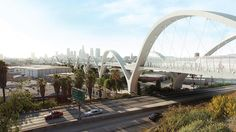 Sixth Street Viaduct by Michael Maltzan Architecture and HNTB in Los Angeles. Image courtesy City of Los Angeles, Bureau of Engineerings, Michael Maltzan Architecture/HNTB.