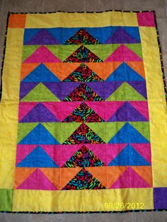 Bright Colors Baby Quilt by SheCaveQuilts on Etsy, $95.00