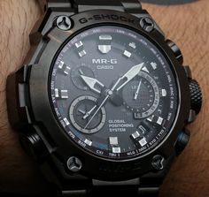Hands-on with the upcoming 2015 Casio G-Shock MR-G ref. MRG-G1000 watch with a solar atomic GPS tough movement produced in all DLC titanium