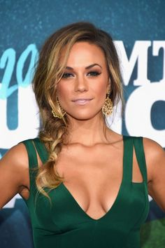 Jana Kramer Photos - Actress Jana Kramer attends the 2015 CMT Music awards at the Bridgestone Arena on June 2015 in Nashville, Tennessee. Curly Hair Cuts, Curly Hair Styles, Jana Kramer Wedding, Prom Make Up, Cmt Music Awards, Sexy Wedding Dresses, Celebs, Celebrities, Beautiful Actresses