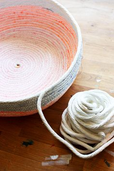 machine sewn rope baskets - Elise Blaha Cripe