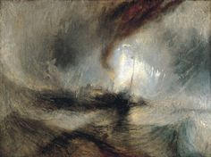 Joseph Mallord William Turner Snow Storm Steam-Boat off a Harbours Mouth, , Tate Gallery, London. Read more about the symbolism and interpretation of Snow Storm Steam-Boat off a Harbours Mouth by Joseph Mallord William Turner. Joseph Mallord William Turner, Turner Painting, Painting & Drawing, Painting Snow, Monet, Art Romantique, Half Elf, Steam Boats, Oeuvre D'art