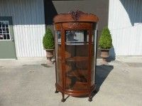 Antiques By Design - Northwind Victorian Solid Oak China Cabinet