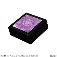 Pink Flower Passion Abstract Fractal Art Keepsake Box