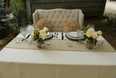 The Sweetheart Table...love that bench for rent