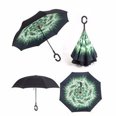 New Inverted Self Stand Reverse Windproof Umbrella