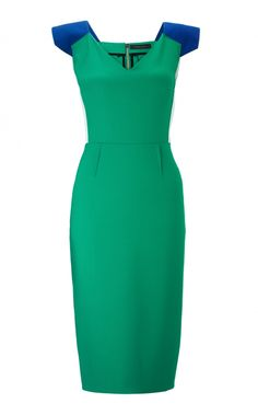 Atria Dress In Wool_Green Royal Blue.jpeg