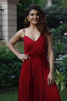 Jacqueline Fernandez looks damn beautiful in red outfit Bollywood Actress Hot Photos, Bollywood Girls, Bollywood Celebrities, Bollywood Fashion, Hindi Actress, Indian Bollywood, Bollywood Stars, Most Beautiful Indian Actress, Beautiful Actresses