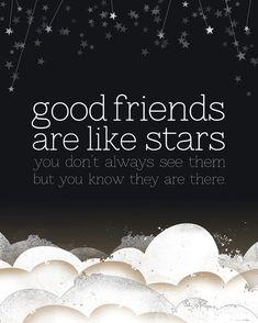 Good Friends are Like Stars  8x10 Print by tuckerreece on Etsy, $20.00