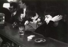 """Paul Amasy """"couple dans un bar parisien"""" 1961"""