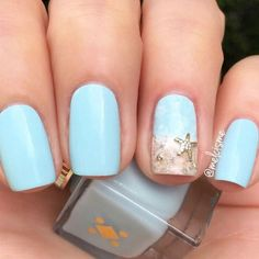 36 summer nail art ideas youll wish to try cool 52 fantastic summer beach nail designs ideas you must try asap Beach Nail Art, Beach Nail Designs, Short Nail Designs, Nail Art Designs, Tropical Nail Designs, Summer Manicure Designs, Beach Toe Nails, Ocean Nail Art, Nail Manicure